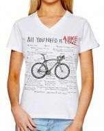 Cycology Womens All You Need V Neck Tee White