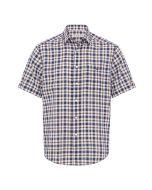 RM Williams Hervey Shirt - Brown/Blue