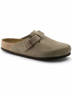 Birkenstock Boston Suede Taupe (Soft Footbed)