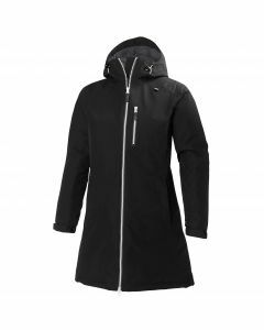 Helly Hansen Womens Long Belfast Winter Jacket - Black