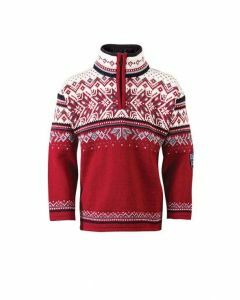 Dale of Norway Kids Vail Sweater - Red
