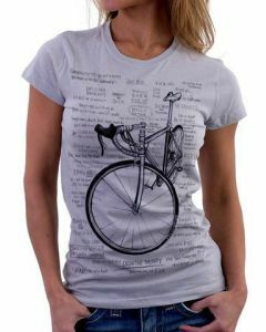 Cycology Women's V Neck Tee - Cognitive Therapy -Grey