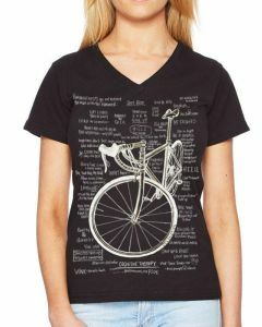Cycology Women's V Neck Tee - Cognitive Therapy -Black