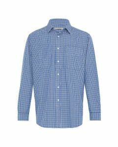 R.M. Williams Collins Button Down Shirt - Navy Blue White