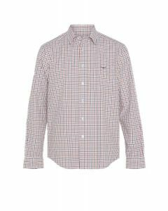 RM Williams Collins Shirt White/Orange/Brown