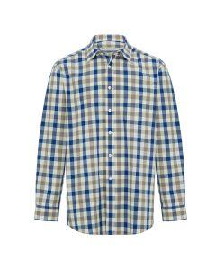 R.M. Williams Cradock Long Sleeve Shirt - Ecru Navy White