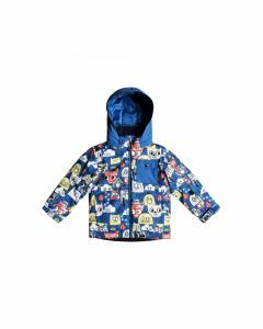 Quiksilver Boys Little Mission Snow Jacket - Daphne Blue Animal Party