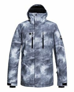 Quiksilver Mission Printed Snow Jacket - Grey Simple Texture