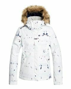 Roxy Jet Ski Jacket White on Piste