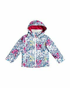 Roxy Girls Mini Jetty Jacket - Bright White Leopard
