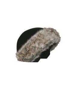 Coolcasc Helmet Cover Black Brown Fur