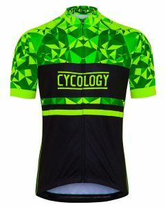Cycology Mens Geometric Lime Relaxed Fit Jersey