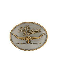 R.M. Williams Logo Buckle - Silver & Gold