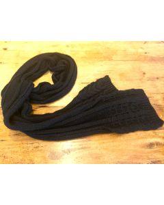 Charles Muller Large Knit Black Scarf