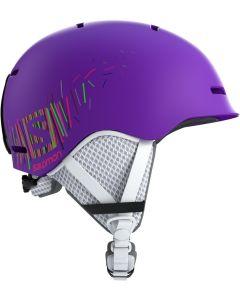Salomon Grom Junior Helmet - Black-Purple-Youth S=49-53
