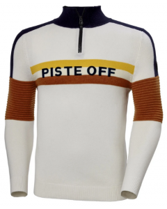 Helly Hansen Mens Tricolore Knitted Sweater White