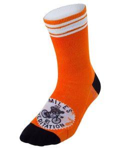 Cycology Cycling Socks Miles are My Meditation Orange