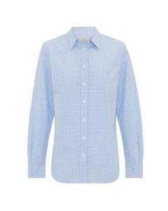R.M. Williams Nicole Long Sleeve Shirt White Blue