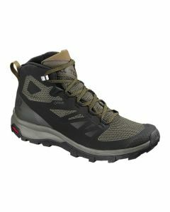 Salomon Mens Outline Mid Gore-Tex Black/Beluga/Capers