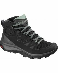 Salomon Womens Outline Mid GTX - Black/Magnet/Green Milieu