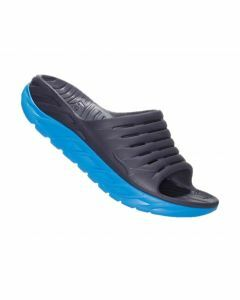 Hoka One One Mens Ora Recovery Slide - Ebony / Dresden Blue