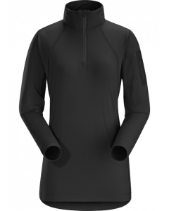 Arc'teryx Womens RHO LT Zipneck - Black