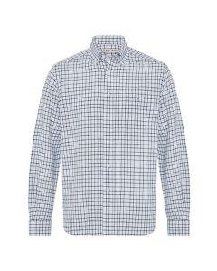 RM Williams Collins Shirt - Light Blue/White