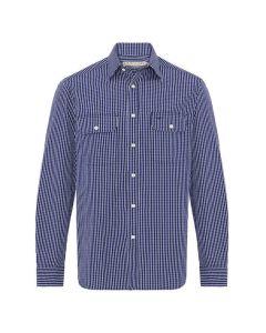 RM Williams Bourke Shirt - Royal Blue Check