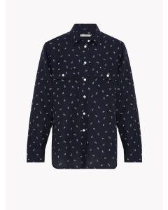 RM Williams Lady Grazier Shirt - Dark Navy/White