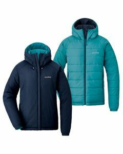 Montbell Womens Thermaland Parka - Turquoise Blue/Dark Navy