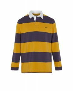 RM Williams Mens Tweedale Rugby Blue/Yellow